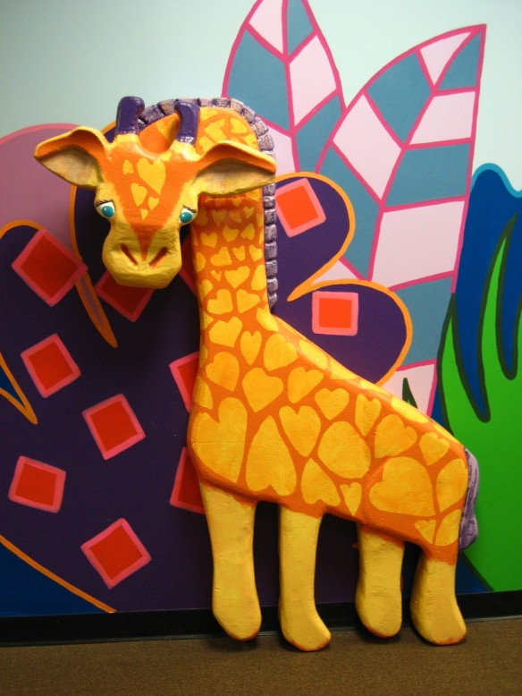 Ms. Giraffe on the Wall